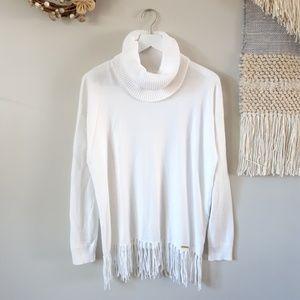 Michael Kors | Fringe Hem Cowl Neck Sweater